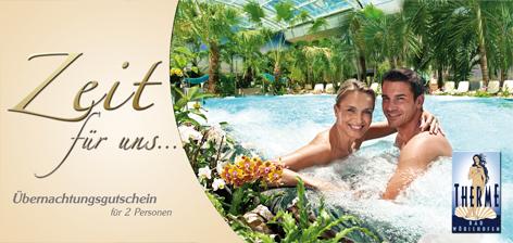 Übernachtungspaket Hotel Sonnengarten Gartenloge mit Tag THERME
